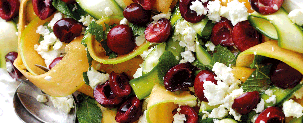Cherries-feta